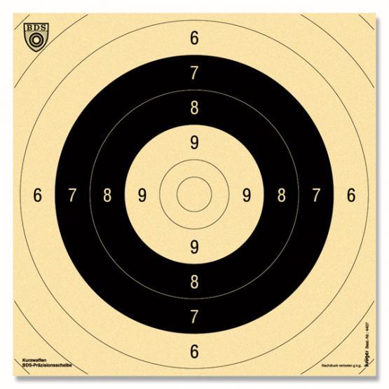 Krüger Druck Centre Cible arme de poing 9+10 blanc