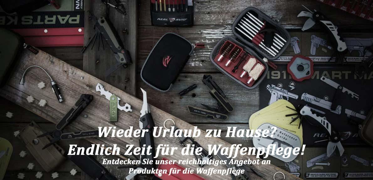 Banner Waffenpflege